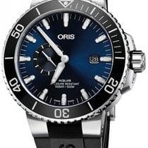 Oris Aquis Date Blue Dial Rubber Strap Men's Watch...