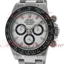 Rolex Cosmograph Daytona, White Dial, Black Cerachrom Monobloc...