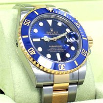 Rolex Submariner 116613 Oyster 18k Yellow Gold /steel Blue...