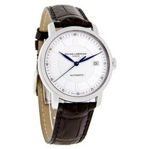 Baume & Mercier Classima Mens Silver Swiss Automatic Brown...