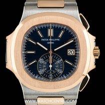 Patek Philippe S/S & 18k R/G Blue Dial Nautilus Chrono...