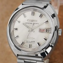 Citizen Crystal 7 38mm Made in Japan Vintage 1970s Automatic...