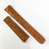 Baume & Mercier 18 / 16mm brown ostrich leather strap  NEW