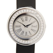 Piaget Possession 18k White Gold Silver Quartz G0A36187