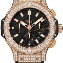 Hublot Big Bang 44 mm Gold Pave Men`s Watch