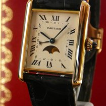 까르띠에 (Cartier) Tank 18K yellow gold Moon Phase and Date,...