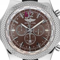 Breitling for Bentley GMT Stahl Automatik Chronograph Armband...