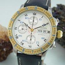 Longines Chronograph Lindbergh Stundenwinkeluhr Glasboden Uhr...