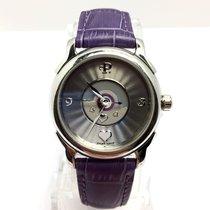 Perrelet Lady Coeur Steel Ladies Watch W/ Purple Leather Band...