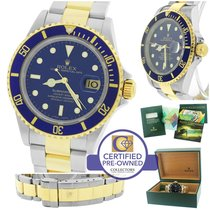 Rolex Submariner 16613 T Two-Tone Stainless Blue Date Dive 40mm