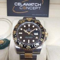 Rolex 116713LN GMT Master II Green Hand Gold Steel Ceramic