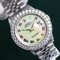 Rolex Datejust MOP Roman Numeral Dial Diamond Bezel