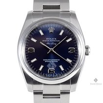 Rolex Airking Stainless Steel Blue Arabic Stick Dial Smooth...