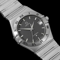 Omega Constellation Mens Bracelet Watch, Gray Dial - Brushed SS