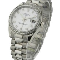 Rolex Unworn 178286_mop_dd Mid Size President in Platinum with...