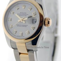 롤렉스 (Rolex) Datejust 179163 Womens 18K Yellow Gold/Steel Watch...