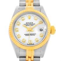 Rolex Datejust Steel Yellow Gold White Diamond Dial Ladies...