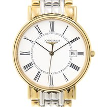 Longines Presence Gold And Steel White Quartz L4.790.2.11.7