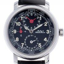 Dubey & Schaldenbrand GMT Stahl Automatik Armband Leder...