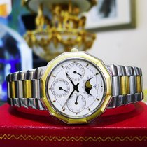 Baume & Mercier Riviera Moonphase Gold Stainless Steel...
