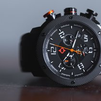 Liv Watches GX1 Swiss Made Chronograph Black IP Case | White...