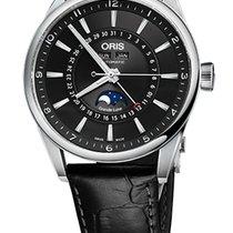 Oris Artix Complication, Black Dial, Leather