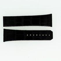Omega Lederband / Alligator / Schwarz-23/18 Länge 85/85