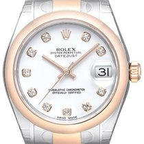 Rolex Datejust 31 Edelstahl Everose 178241 Weiß DIA