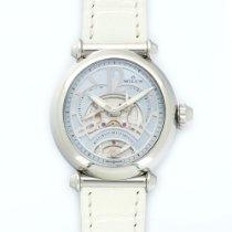 Milus Steel Merea Tri-Retro Skeletonized Automatic Strap Watch
