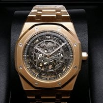 Audemars Piguet 15204OR Royal Oak Skeleton Openworked 18K Pink...