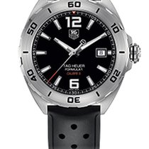 TAG Heuer Formula 1 Automatic Black Dial Black Rubber Men'...