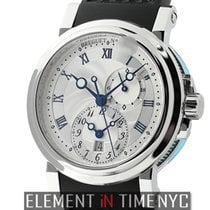 Breguet Marine Dual Time Stainless Steel 42mm Silver Dial
