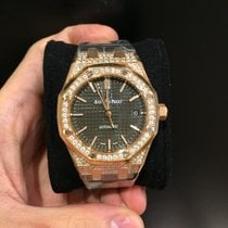 Audemars Piguet 15452OR Royal Oak Lady 18K Pink Gold Slate...