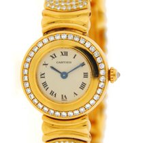 Cartier Colisee Factory Diamonds 18K Yellow Gold