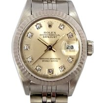 Rolex Datejust Ladies Steel with Silver Diamond Dial Ref: 69174