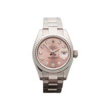 Rolex Datejust 18k White Gold Ladies 179179 - W3057