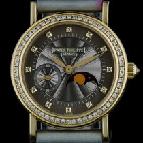 Patek Philippe 18k Y/G Brown Dial Diamond Set Moonphase...