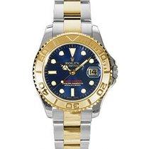 롤렉스 (Rolex) Yacht-Master 35 168623-BLU Blue White Dial Yellow...