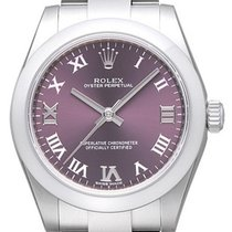 Rolex Oyster Perpetual 31 mm Ref. 177200 Zifferblatt Red Grape