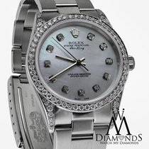ロレックス (Rolex) Air-king Stainless Steel Watch White Mop Diamond...