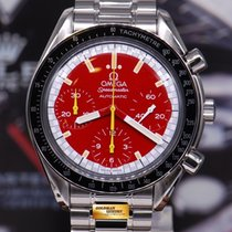 "Omega Speedmaster ""schumacher"" Red Chronograph 38mm Automatic..."