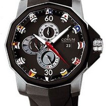 Corum A277-BLACK Admirals Cup Tides 48mm in Steel - on Black...