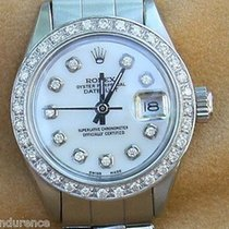 Rolex Ladies Vintage Watch Datejust  Steel Diamond Dial Bezel...