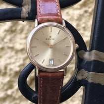 Edox Thin Elegant Ladies Watch Gold Plated NEW