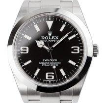 Rolex Explorer 39mm Steel Black Dial Oyster 214270