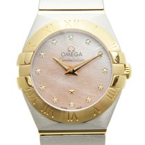 Omega Constellation Gold And Steel Pink Quartz 123.20.24.60.57...