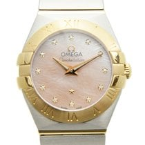 Omega Constellation Gold And Steel Pink Quartz 123.20.24.60.57...