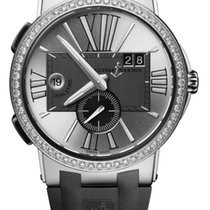 Ulysse Nardin EXECUTIVE DUAL TIME Steel, Bezel Ceramic With...