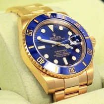 Rolex Submariner 116618 18k Yellow Gold Ceramic Bezel Watch...