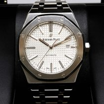 Audemars Piguet 15400ST Royal Oak Automatic 41mm Silver White...